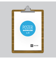 poster bulldog clip tablet vector image vector image