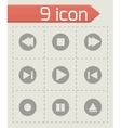 media buttons icons set vector image