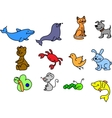 Set of cute wild animals vector image