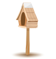 Oak Wood Small Old House vector image