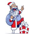 cartoon funny santa vector image vector image