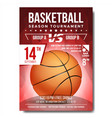 basketball poster banner advertising vector image
