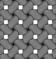 Black and white striped ribbons four turn vector image