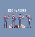 bookmakers men with money vector image