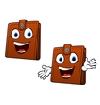 Brown leather purse vector image