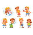 children get sick vector image