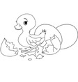 Easter surprise coloring page vector image