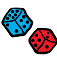 freehand drawn dices vector image