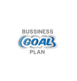paper business goal plan vector image