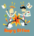 Stress in Office vector image