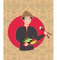 sushi chef card vector image