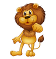 A lion standing vector image vector image