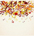 colorful notes background vector image