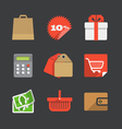 Trendy modern color web interface icons collection vector image vector image