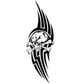 skull bones tribal2 vector image