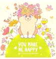 cat on the meadow vector image vector image