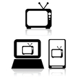 TV streaming vector image vector image