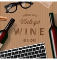 Blog about wine wine lovers tasting vector image
