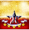 American Independence Day background flag on stage vector image