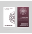 Business card with mandala vector image
