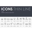 cinema Thin Line Icons vector image