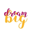 Dream big Brush lettering vector image