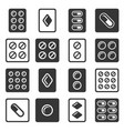 drug pills in blister icons set vector image