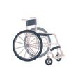 flat cartoon lightweight metal wheelchair vector image