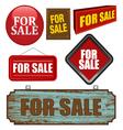For sale design element vector image