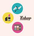 Make up design over white background vector image