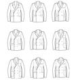 Men business jacket vector image
