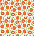 Red tomatoes pattern vector image