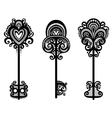 Set of Vintage Ornate Keys vector image