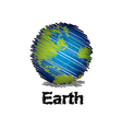 sketch the earth handwriting style vector image vector image