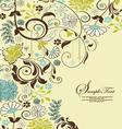 floral vintage invitation vector image vector image