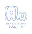 family dental clinic logo symbol vector image