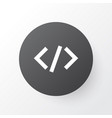 Code icon symbol premium quality isolated tag vector image