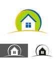 house home logo icon vector image vector image