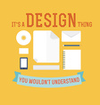 Element of design concept icon in flat design vector image