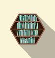 Hexagon Bookshelf On Wall vector image