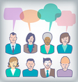 Diverse People Icons vector image vector image