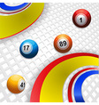 Multi coloured swirl and bingo balls vector image