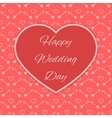 Red Happy Wedding Day card vector image