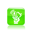 Phone alarm icon vector image