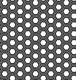 Abstract geometric seamless pattern Hexagon vector image