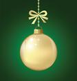 ChristmasBallGold vector image