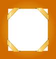 Decorative corner gold ribbons vector image