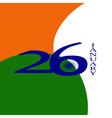 Elegant Indian flag theme background of Happy vector image