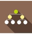 Organization chart infographic icon cartoon style vector image
