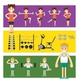 People involved in the gym vector image